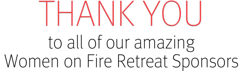 Retreat sponsors thank you