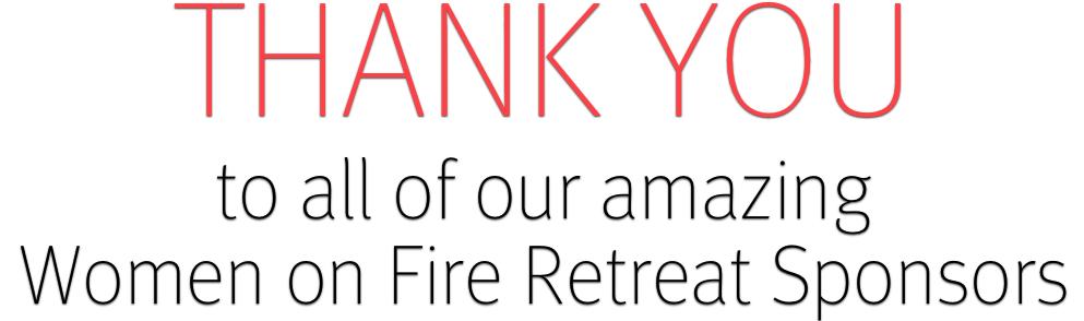 Retreat sponsors thank you